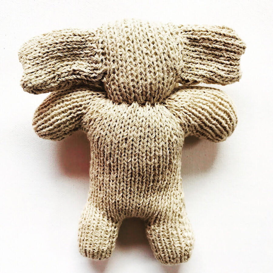 Knit for Life toy baby elephant. Handmade in rural Zimbabwe by a community of women. Knit for Life is a registered charity based in Australia. Adorable natural and ethical baby and kids gifts